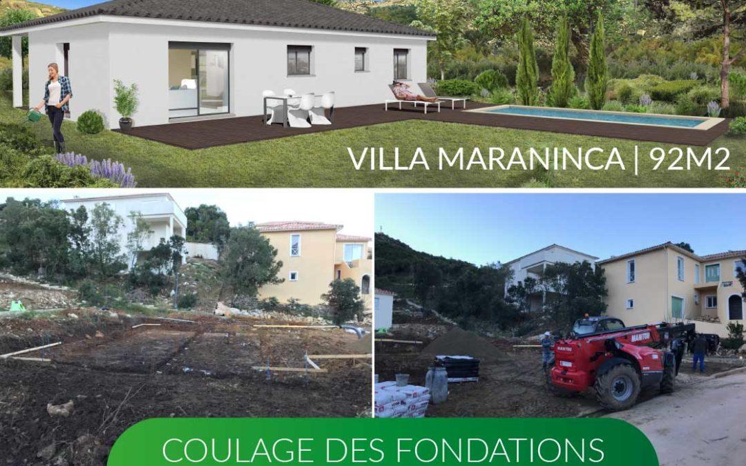 Nouveau chantier à Oletta | Coulage des fondations