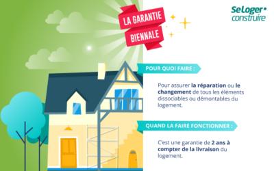 Que couvre la garantie biennale dans une construction de maison?